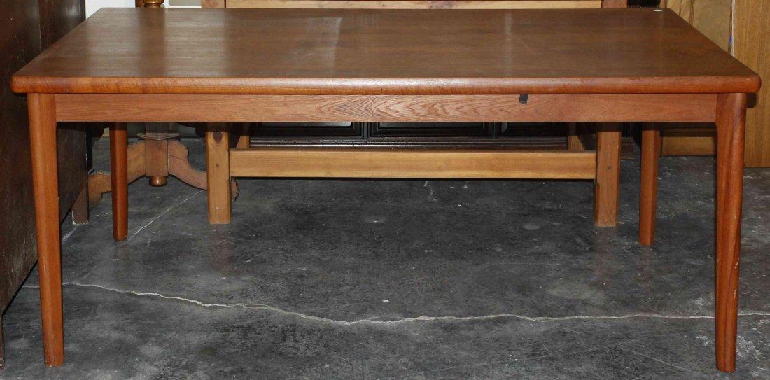 A Danish Teak Extension Table, AM, Height 28 5/8 x widt