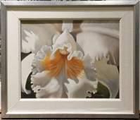 Winifred Godfrey, (American, b. 1944), White Orchid Cen