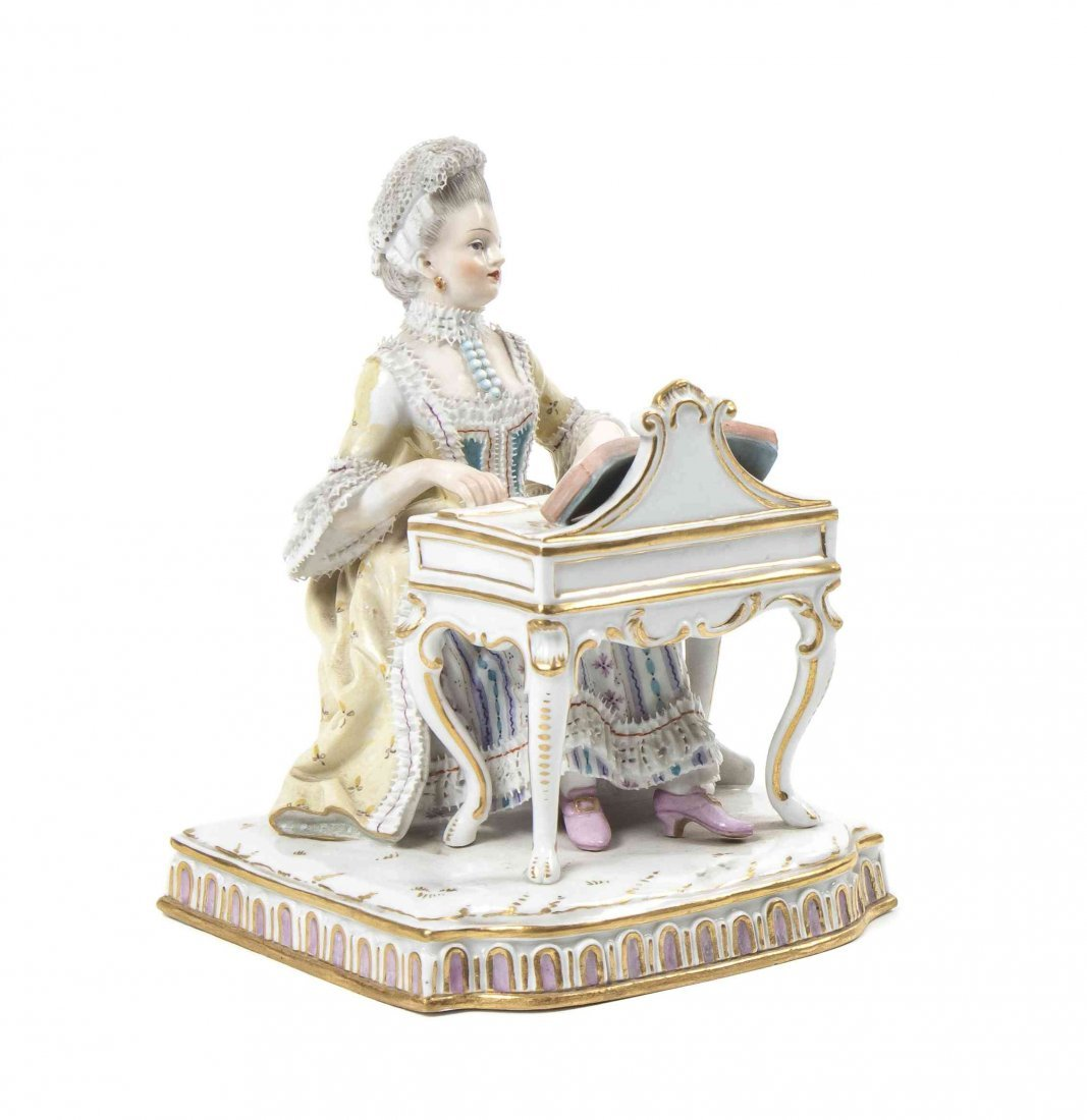 A Meissen Porcelain Figure, Height 4 3/4 inches.