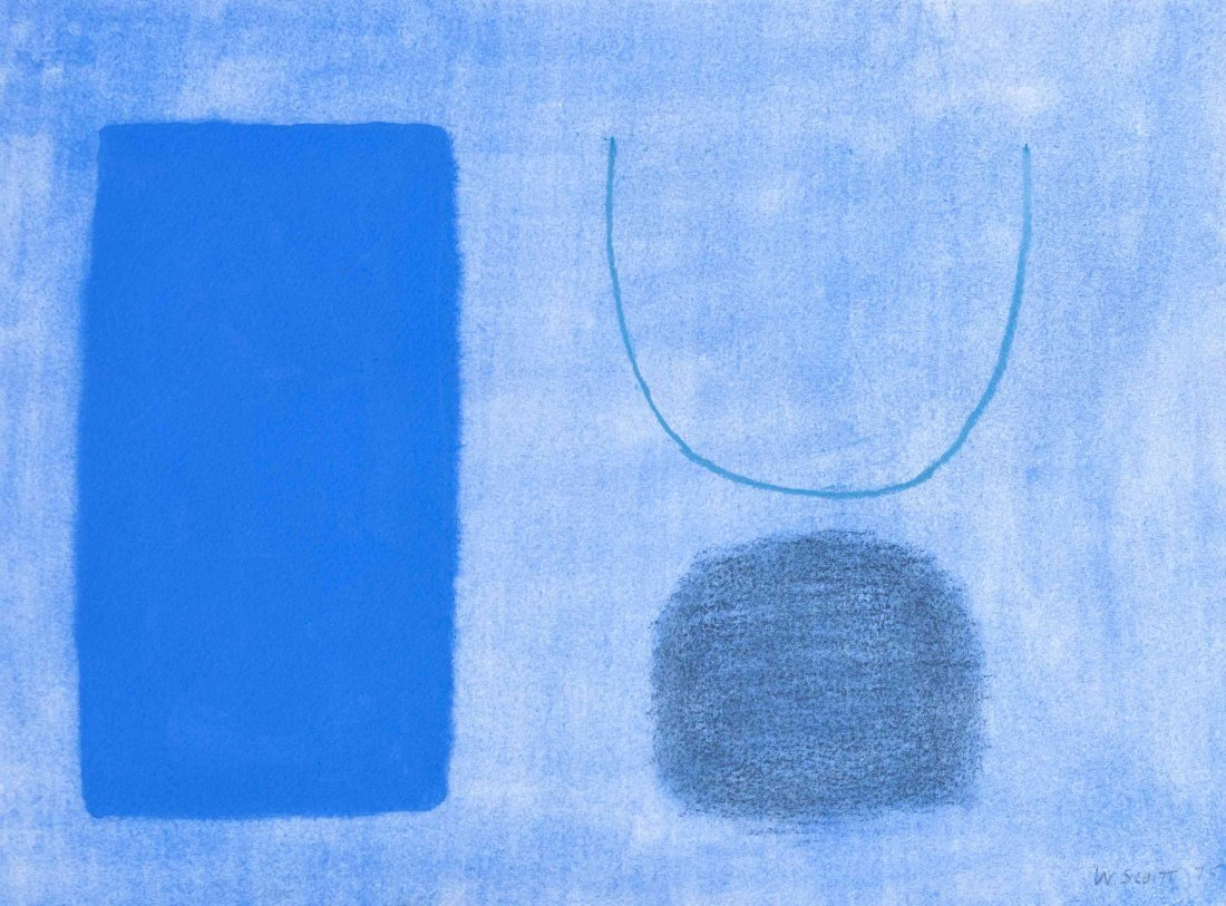 William Scott, RA, (British, 1913-1989), Forms Blue, Op