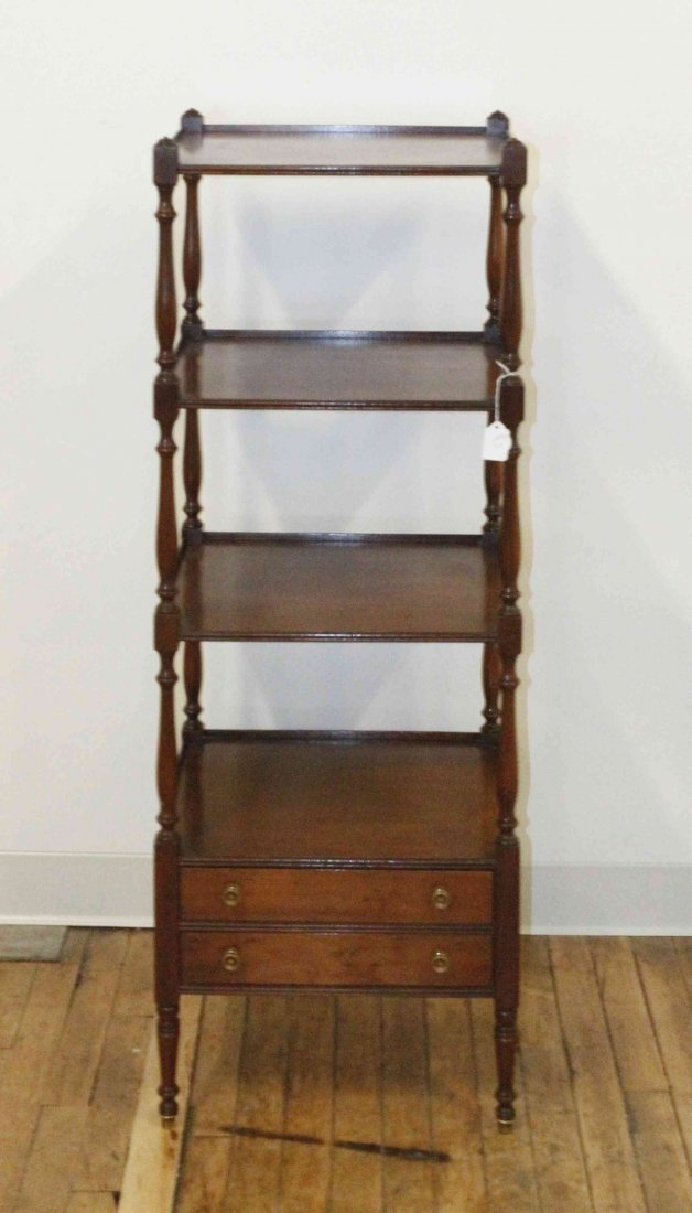 A Regency Style Etagere, Height 45 1/2 inches.