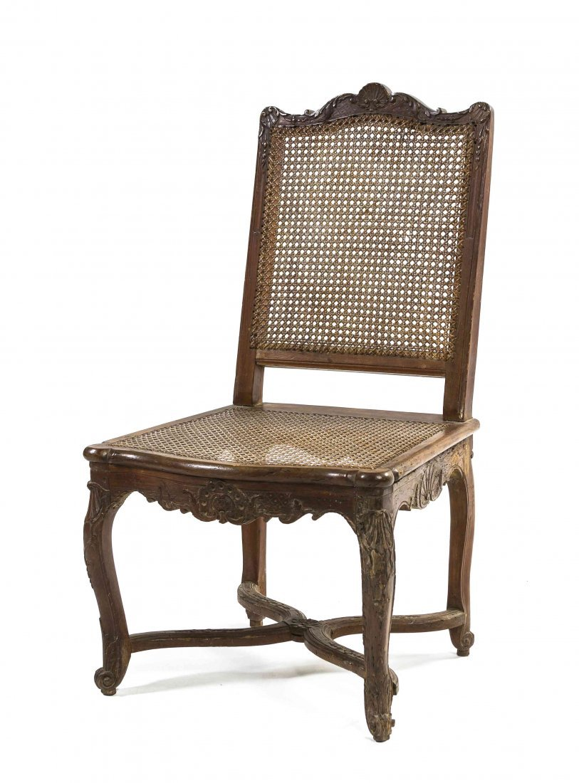 A Louis XV Style Carved Side Chair, Height 37 1/4