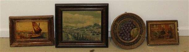 A Collection of Four Decorative Framed Articles, Width