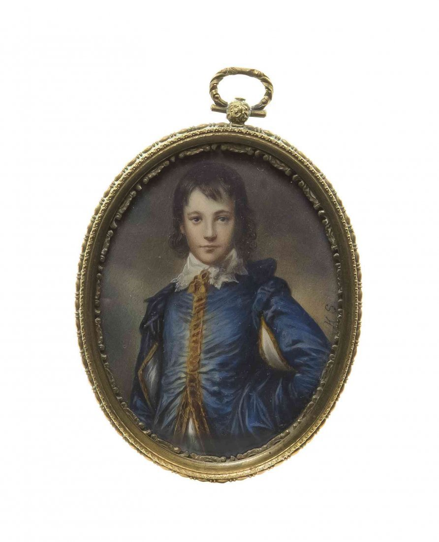 A Continental Portrait Miniature on Ivory, Height