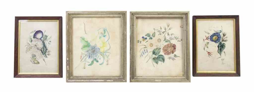 A Collection of Four Nineteenth Century Handcolored