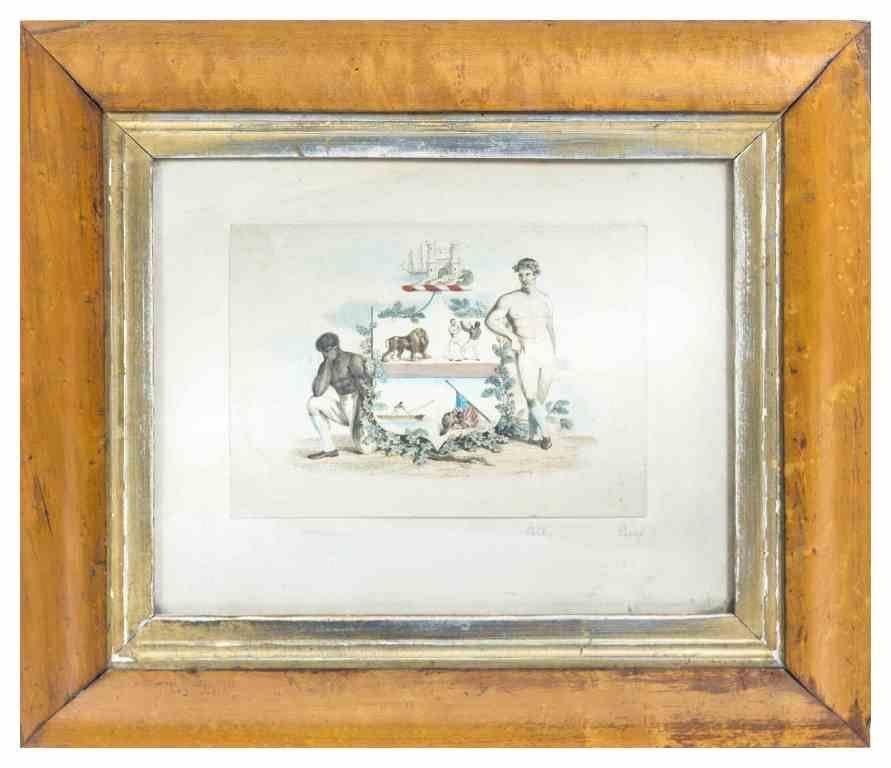 An English Pugilist Handcolored Print, J. Emery, Height