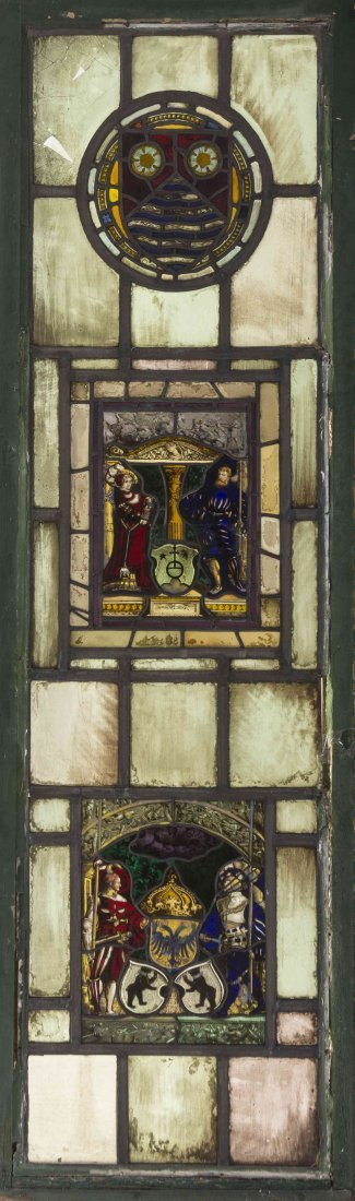 A Gothic Style Leaded and Stained Glass Window, Height