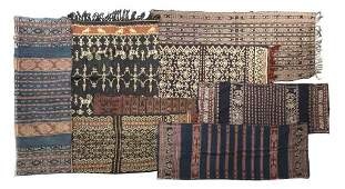 A Collection of Eight Indonesian Ikat Textiles, Length