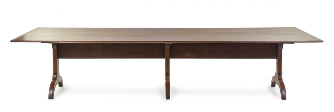 An American Shaker Style Maple Banquet Table, Height 29
