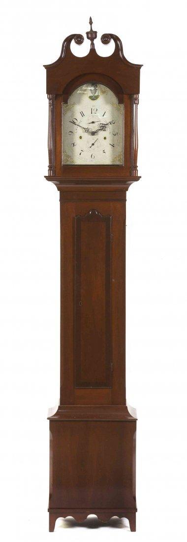 An American Mahogany Tall Case Clock, Luman Watson,