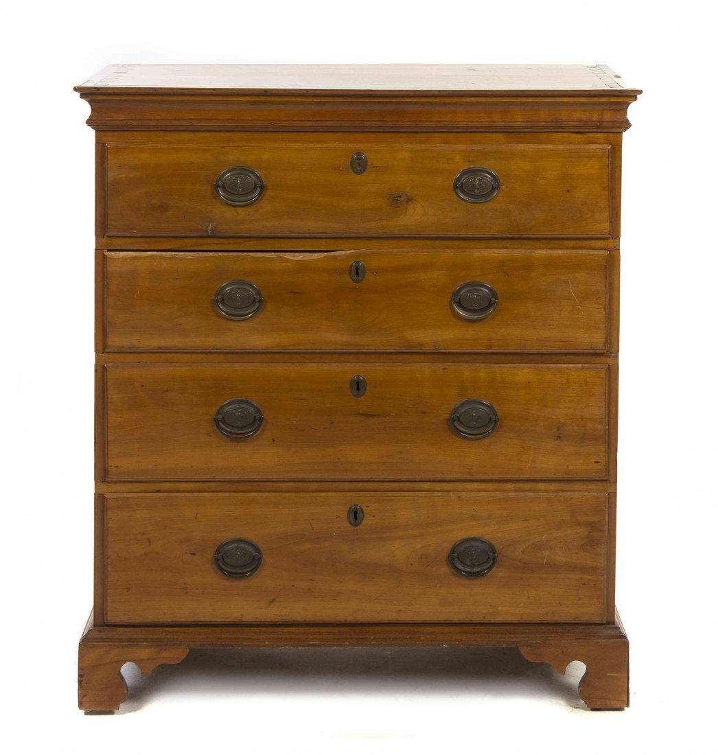 An American Maple Chest of Drawers, Height 41 x width