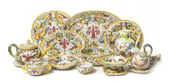 An Assembled Italian Ceramic Partial Dinnerware