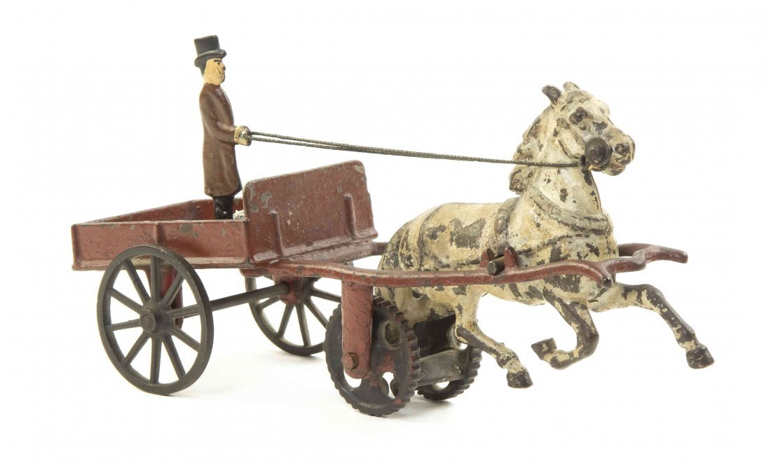 An American Cast Iron Doctor's Cart, attributed to
