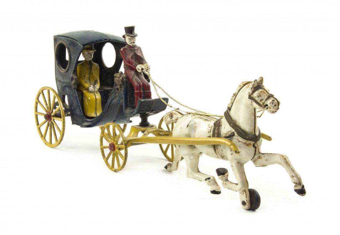 An American Cast Iron Horse Drawn Carriage, Length