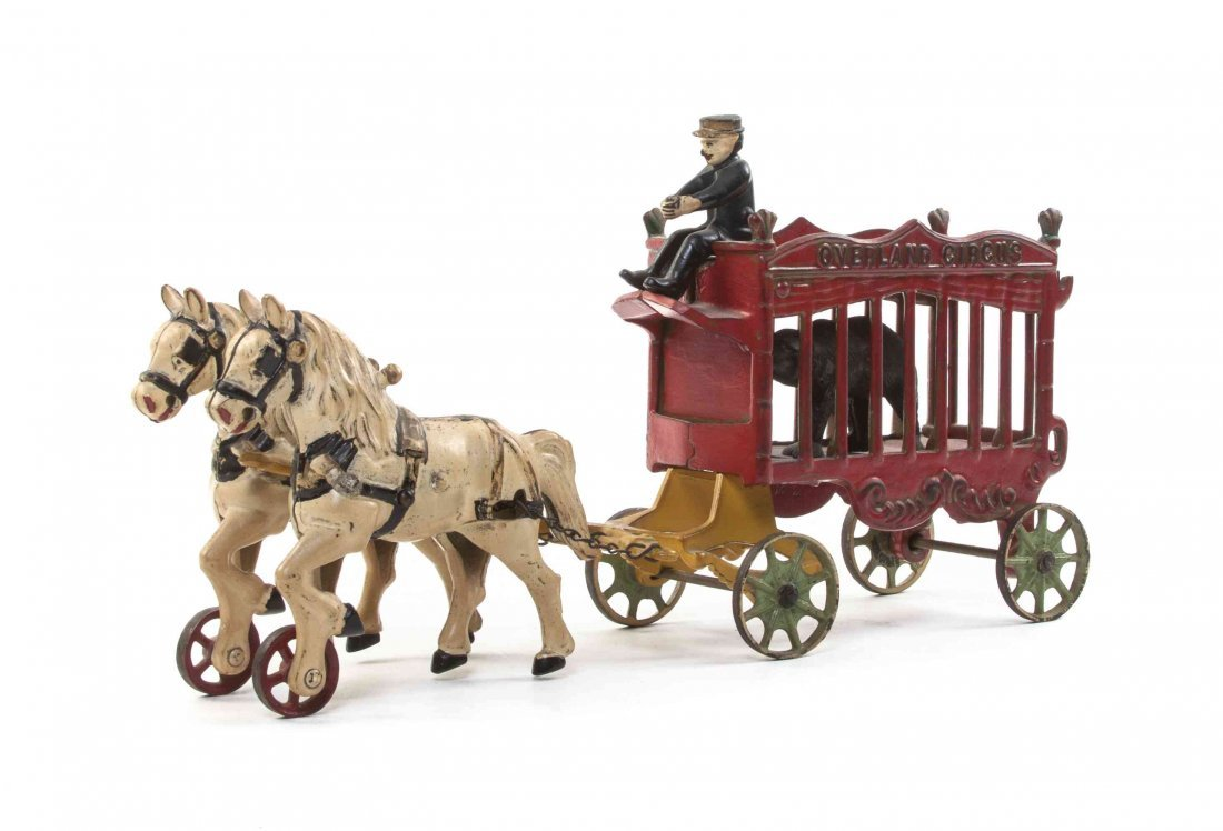 An American Cast Iron Overland Circus Wagon, Length