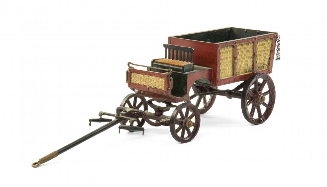 An American Cast Metal Wagon, Length 10 inches.