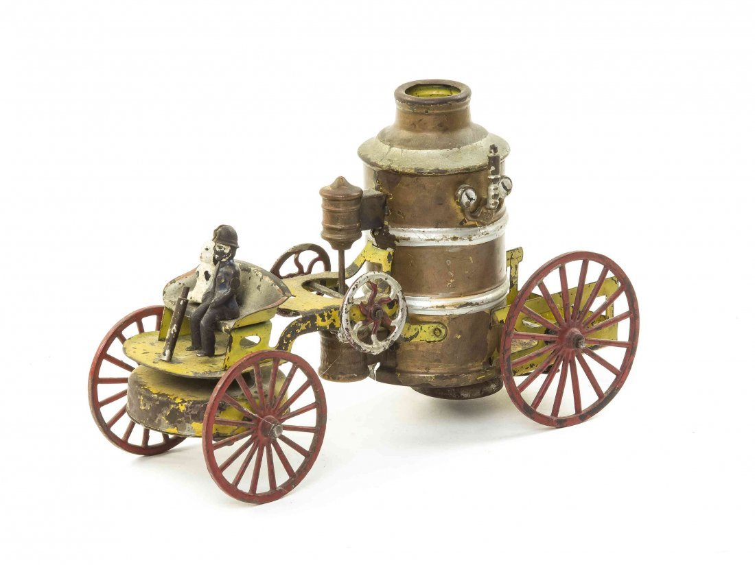 An American Tin Fire Pumper Wagon, attributed to