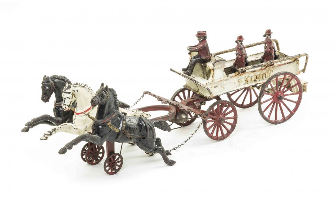 An American Cast Iron Patrol Wagon, attributed to Dent,