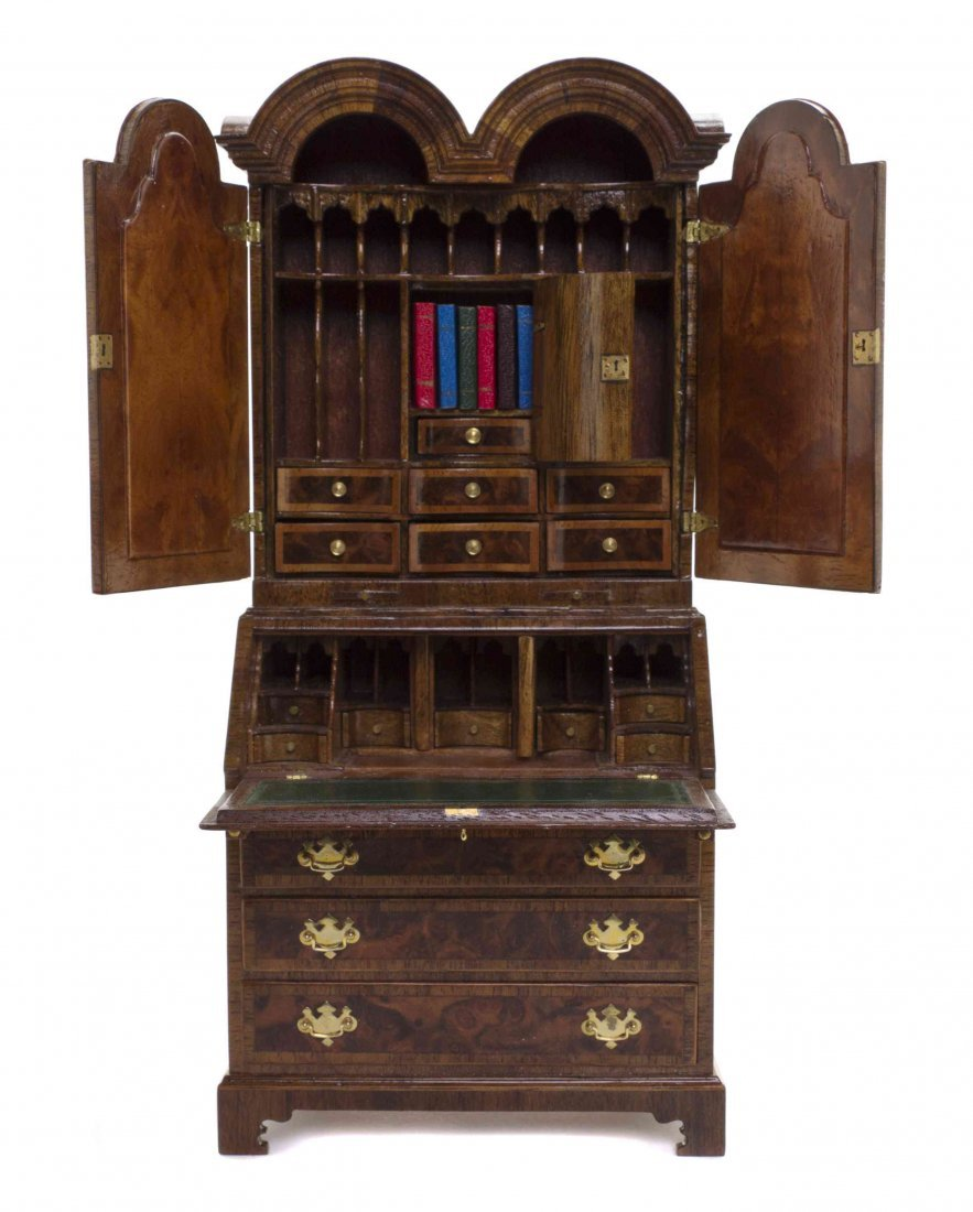 A George II Style Mahogany Secretaire Bookcase, John J. - 2