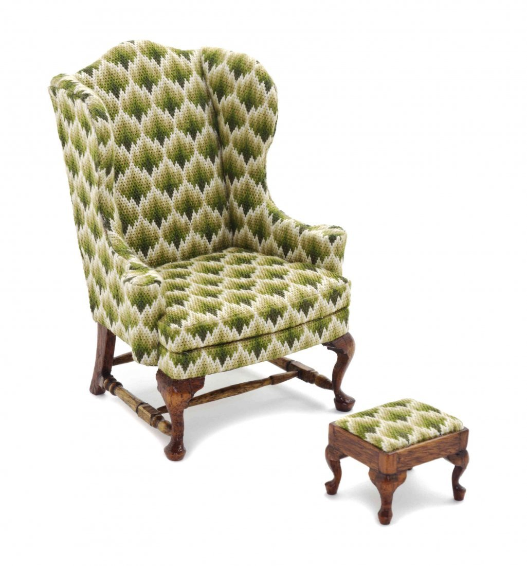 A Georgian Style Wingback Armchair, Esther Robertson
