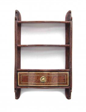 A Georgian Style Mahogany Hanging Etagere, Michael