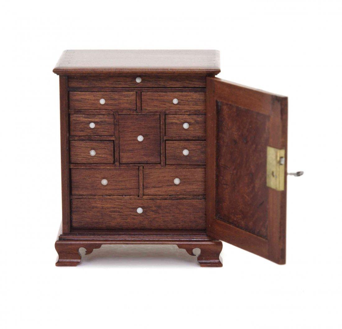 A Georgian Style Mahogany Specimen Cabinet, William R. - 2
