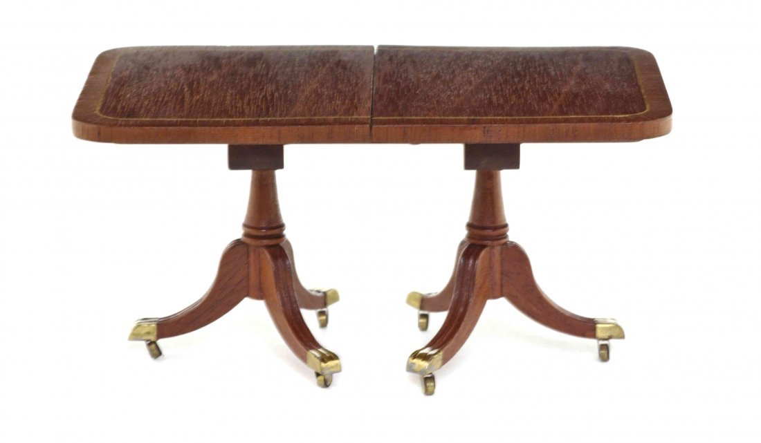 A Georgian Style Mahogany Double Pedestal Extension
