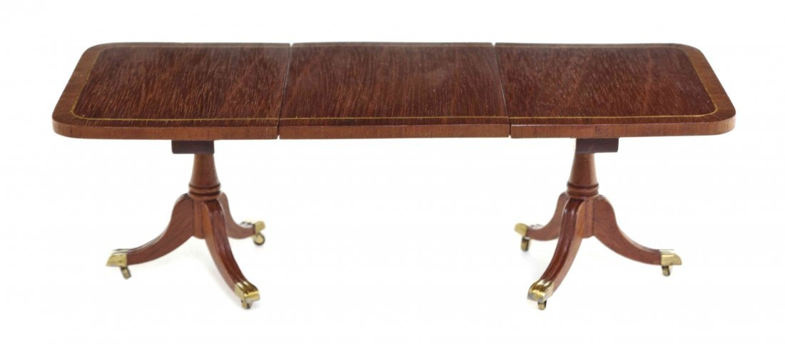 A Georgian Style Mahogany Double Pedestal Extension - 2