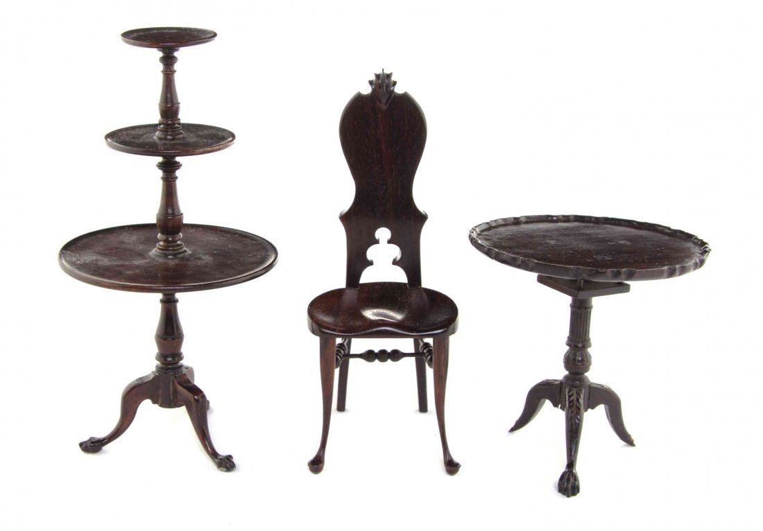 Three Rosewood Furniture Articles, Height of dessert