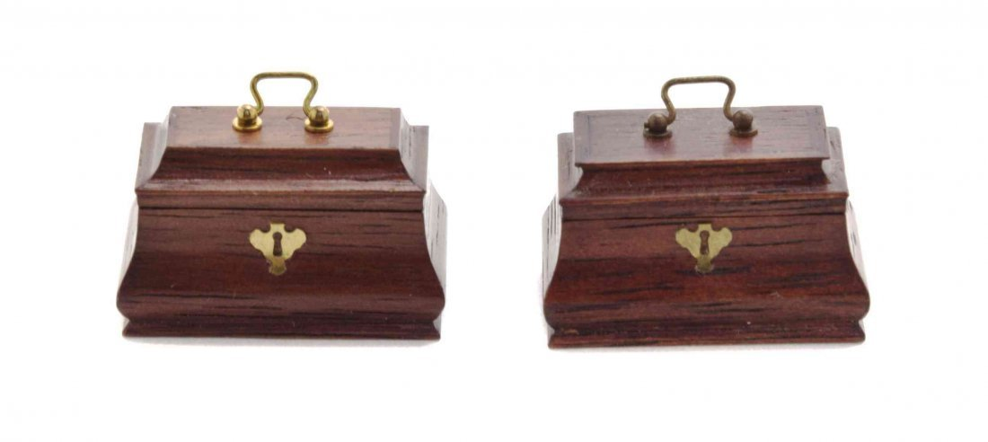 A Pair of Regency Style Mahogany Tea Caddies, William