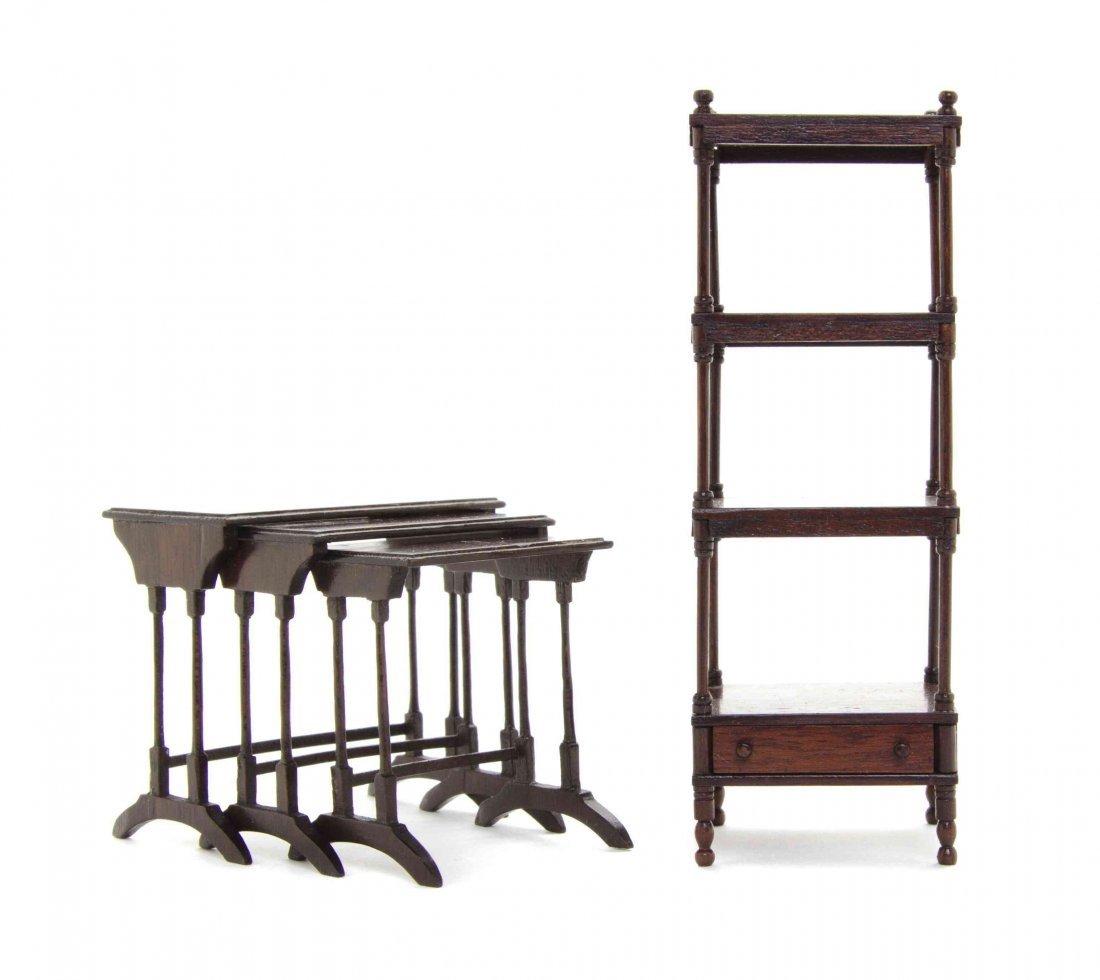 A Set of Three Regency Style Mahogany Nesting Tables,