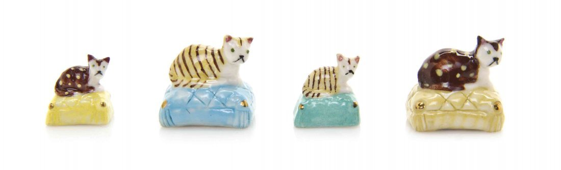 A Collection of Staffordshire Style Porcelain Cats, Ron