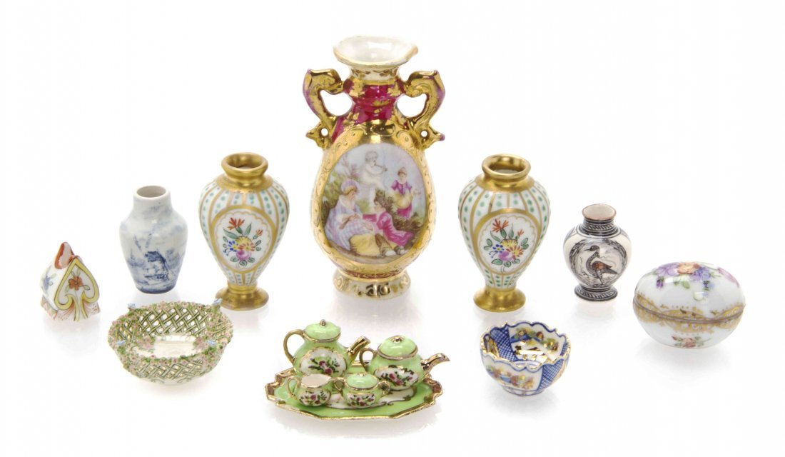 A Collection of Miniature Porcelain Articles, Height of