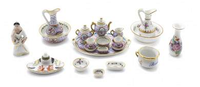 A Collection of French Porcelain Articles, Width of