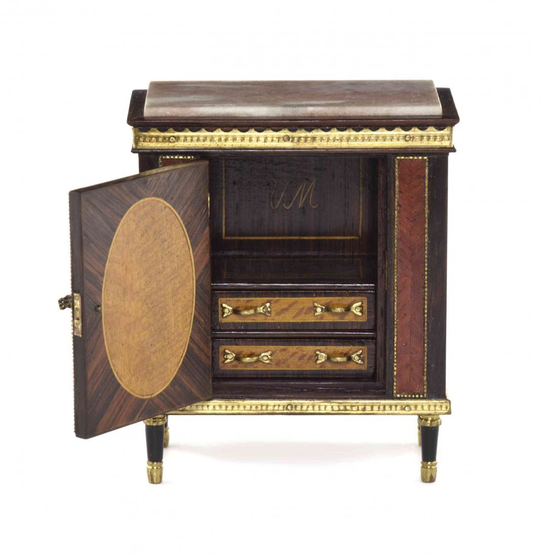 A Louis XVI Style Parquetry, Marquetry and Gilt Metal - 2