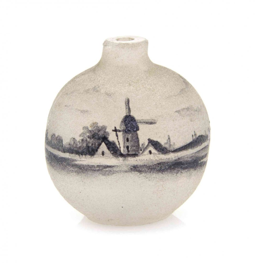 A Daum Miniature Cameo Glass Vase, Height 1 1/8 inches.
