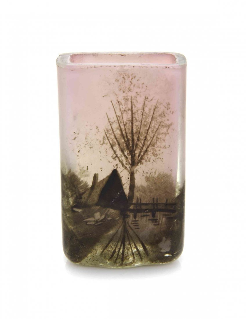 A French Miniature Cameo Glass Vase, Attributed to