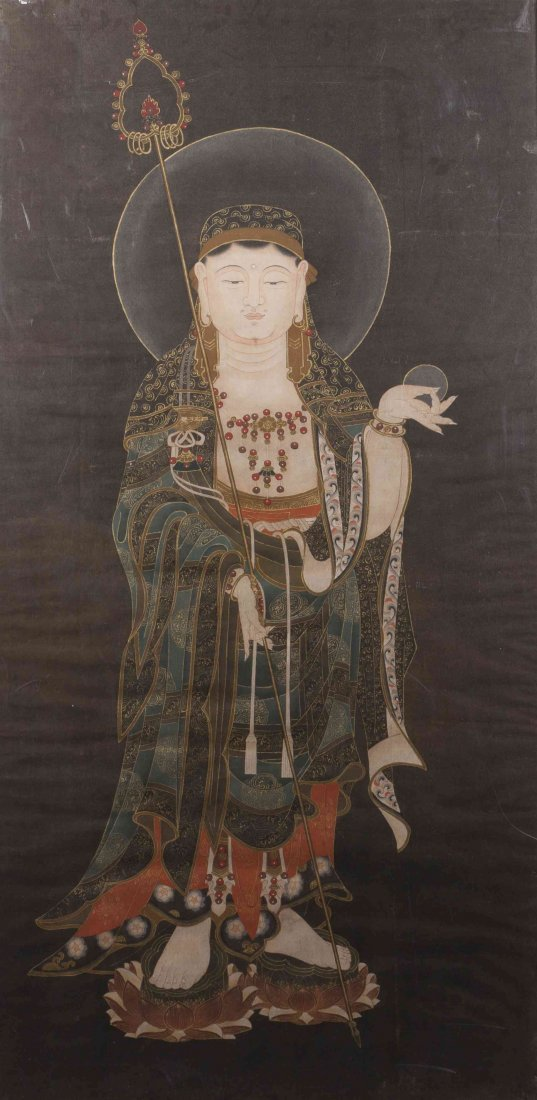 A Chinese Scroll Painting, Height of image 50 x width