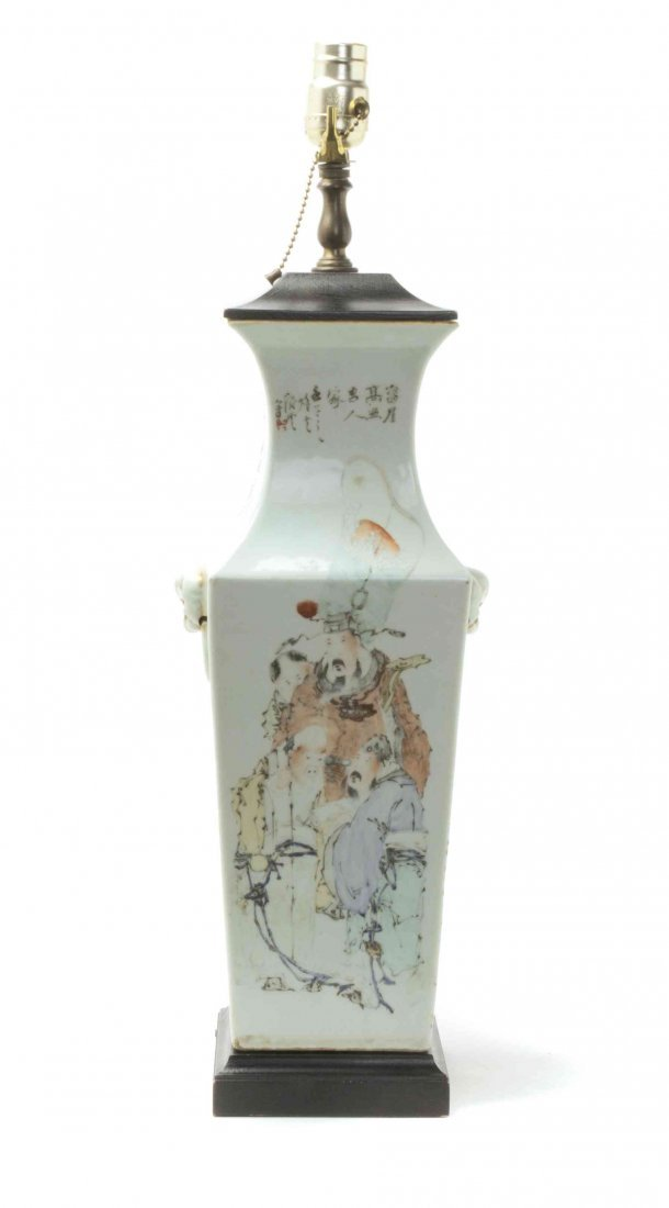 A Chinese Porcelain Baluster Vase, Height of vase 17