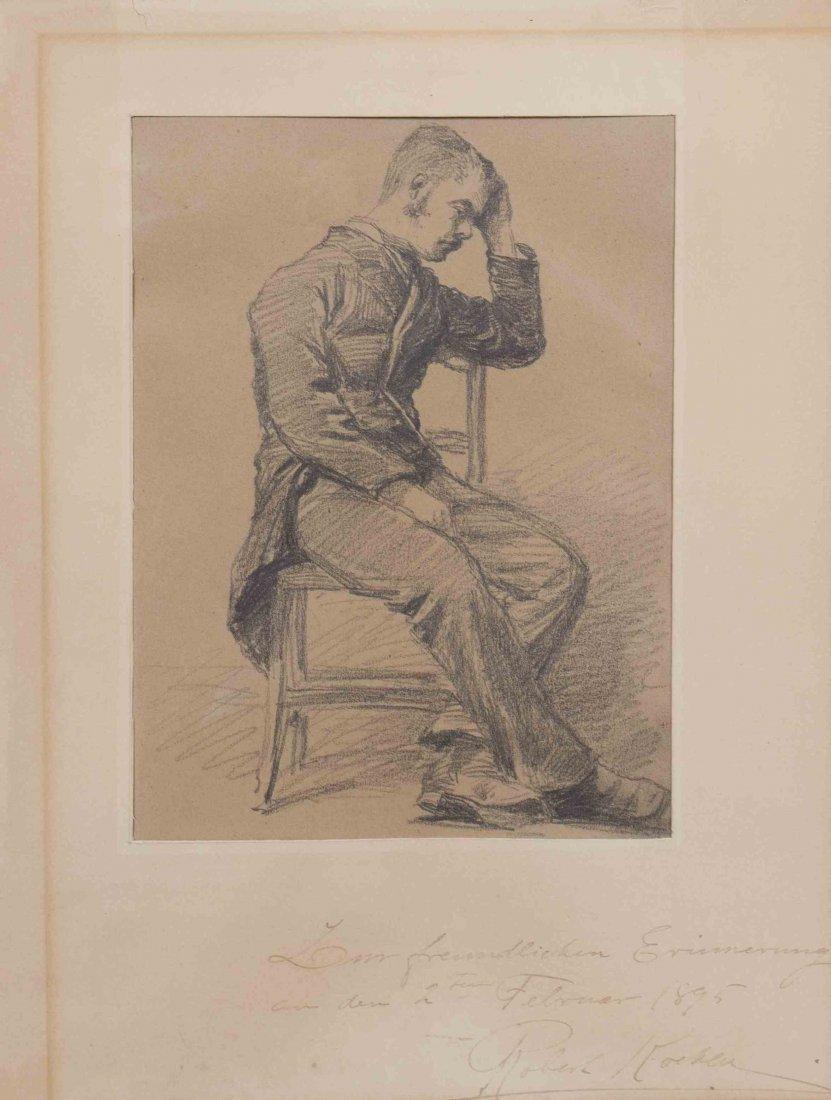 Robert Koehler, (American/German, 1850-1917), Seated