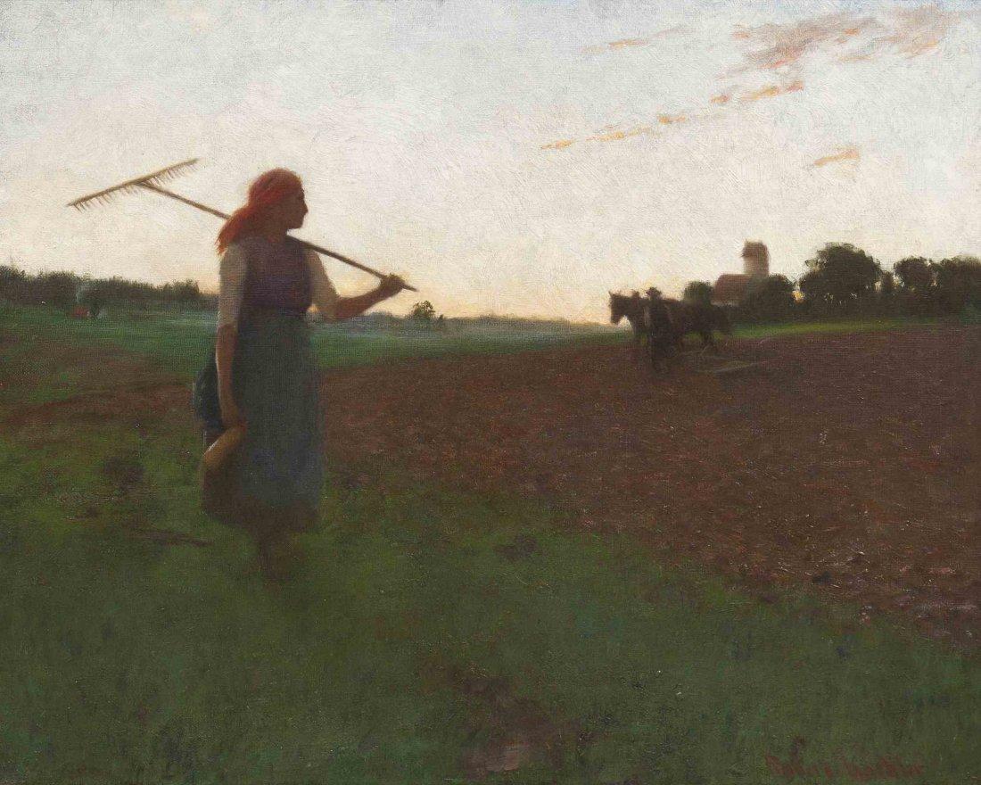 Robert Koehler, (American/German, 1850-1917), Homeward