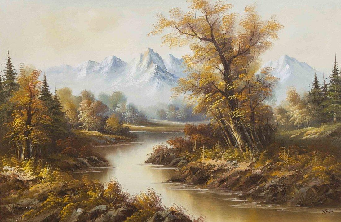 Wendy Reeves, (British, 20th century), Autumn Stream