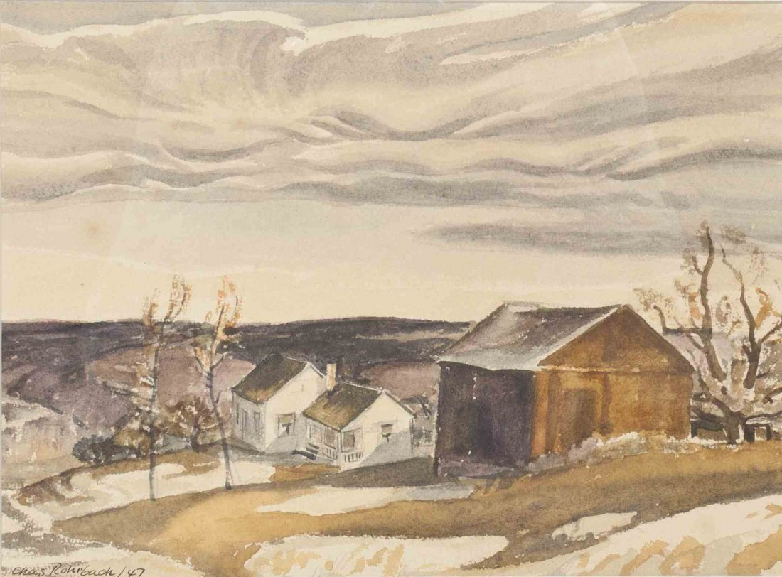 Charles Rohrbach, (American, 1892-1962), House in the