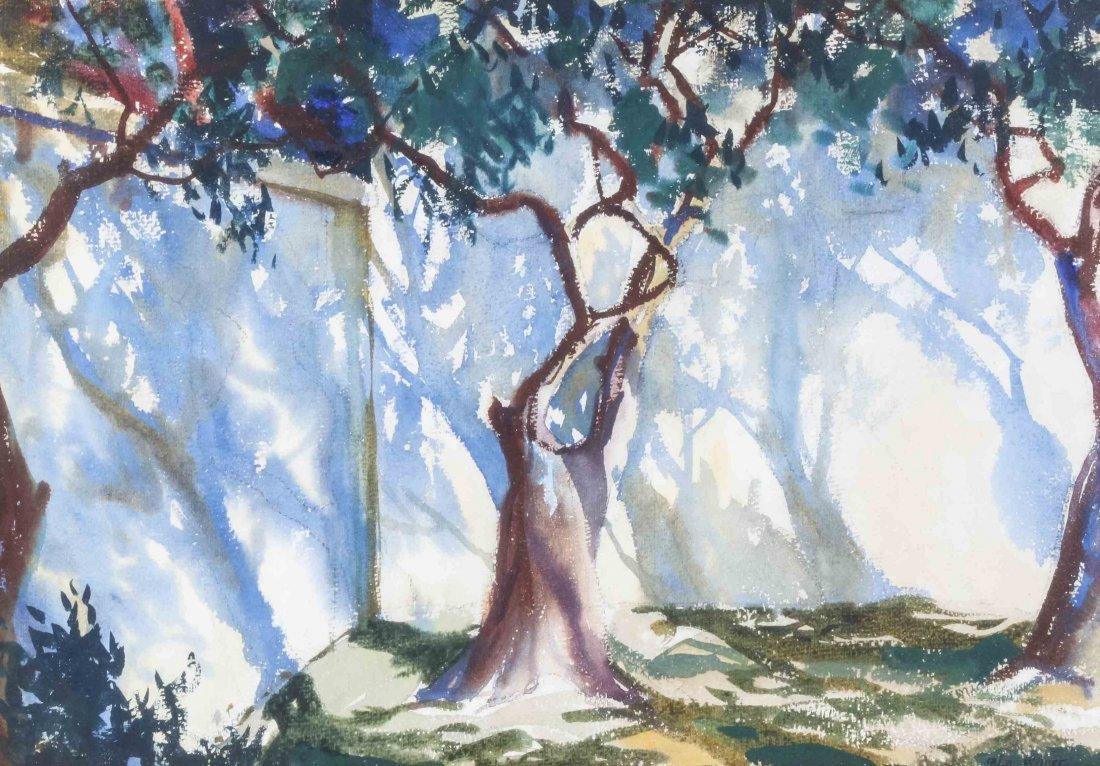 John Whorf, (American, 1903-1959), Courtyard