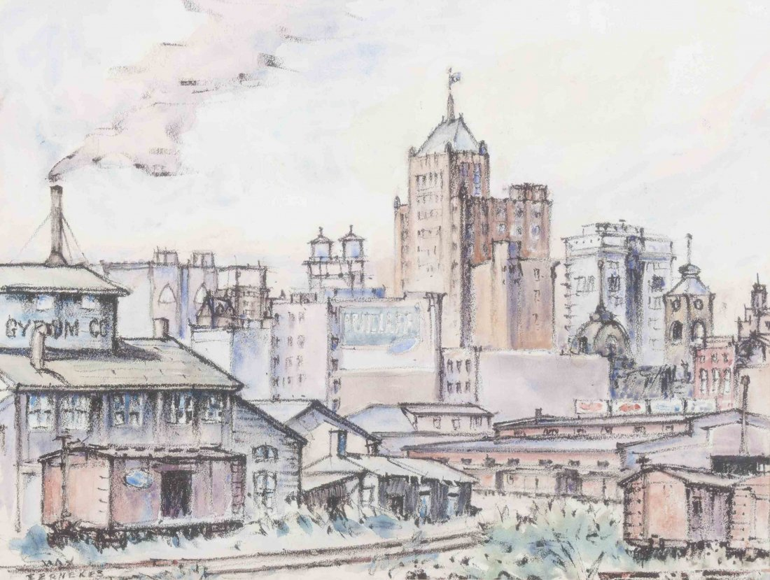Max Fernekes, (American, 1905-1984), View from the