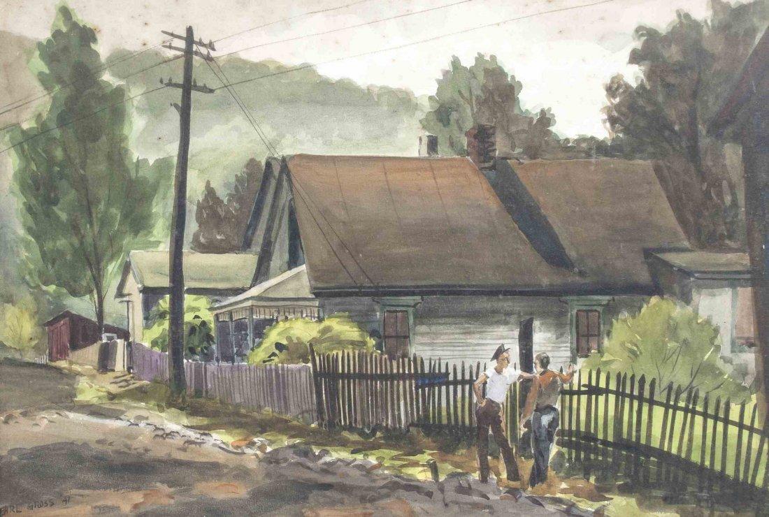 Earl Clifford Gross, (American, 1899-1983), Street