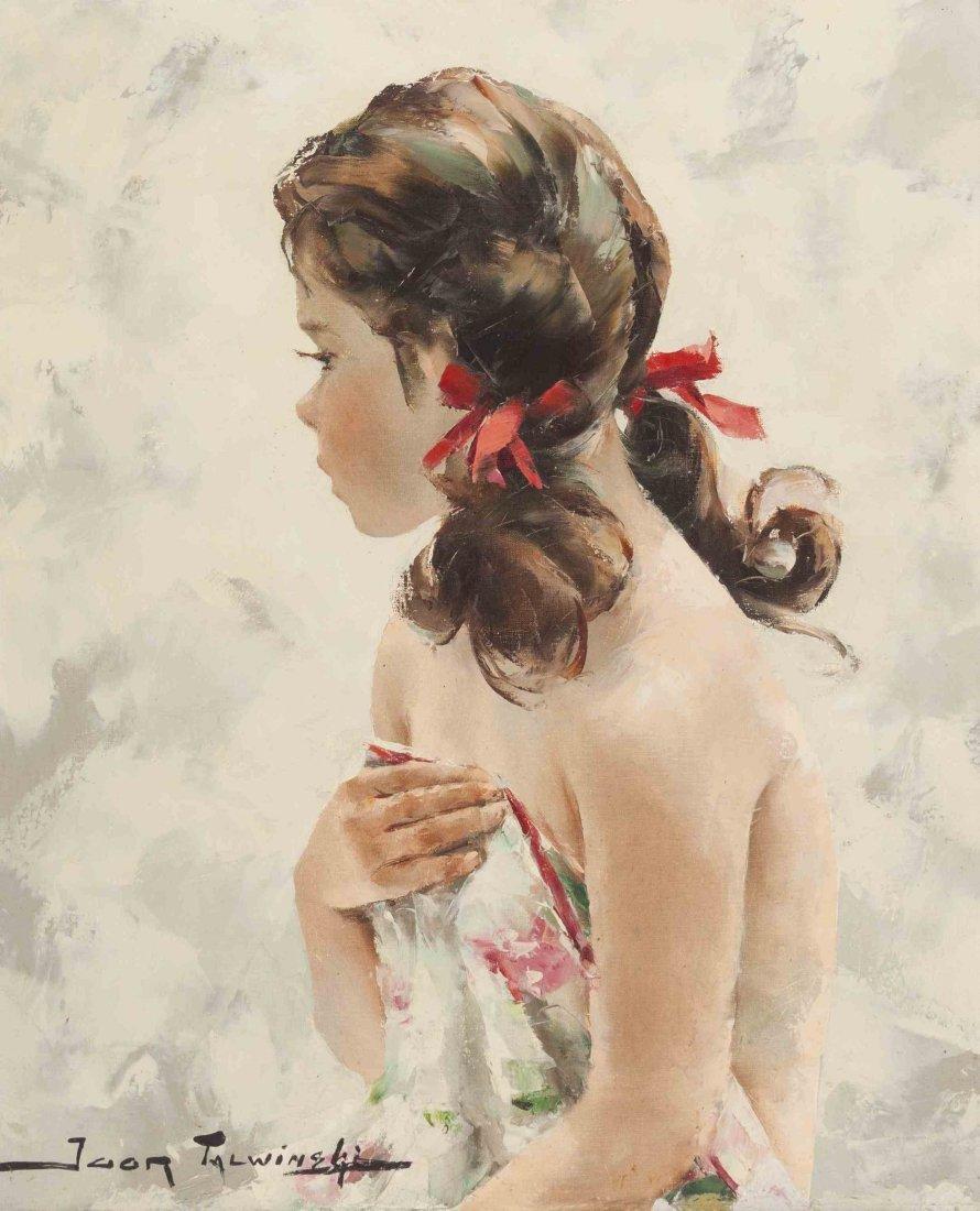 Igor Talwinski, (Polish, 1907-1983), Girl with Red