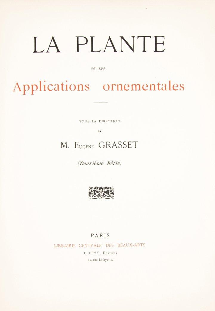 (BOTANY) GRASSET, M. EUGENE. La plante et ses - 5
