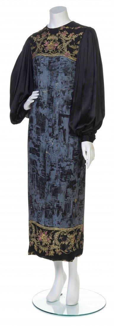 A Multicolor Printed Silk Dress,