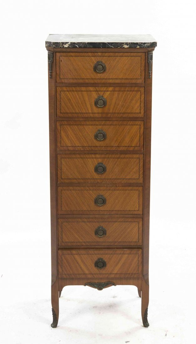 A Louis XV Transitional Style Bookmatch Veneered